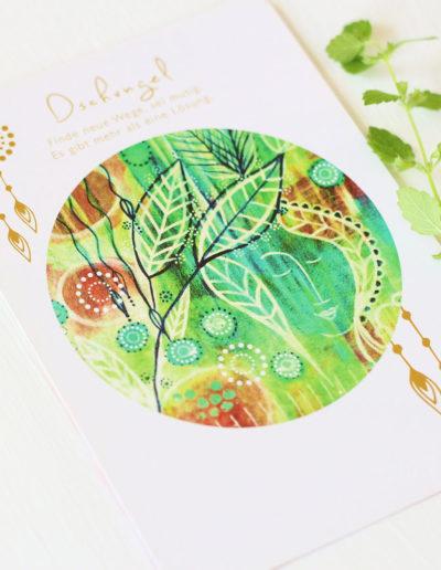 Orakelkarte Dschungel aus dem Orakelkarten-Set Love & Shine