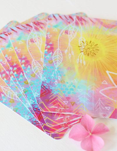 Orakelkarten Rückseite aus dem Orakelkarten-Set Love & Shine