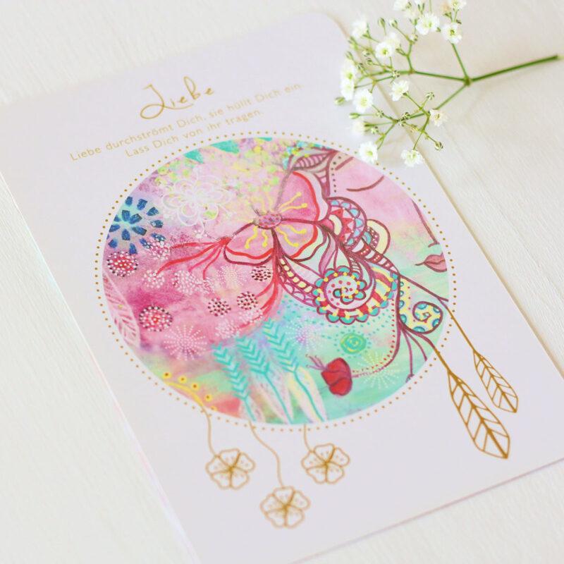Orakelkarte Liebe aus dem Orakelkarten-Set Love & Shine