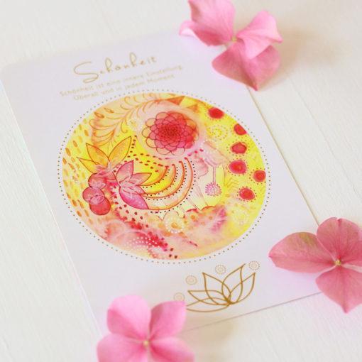 Orakelkarte Schönheit aus dem Orakelkarten-Set Love & Shine