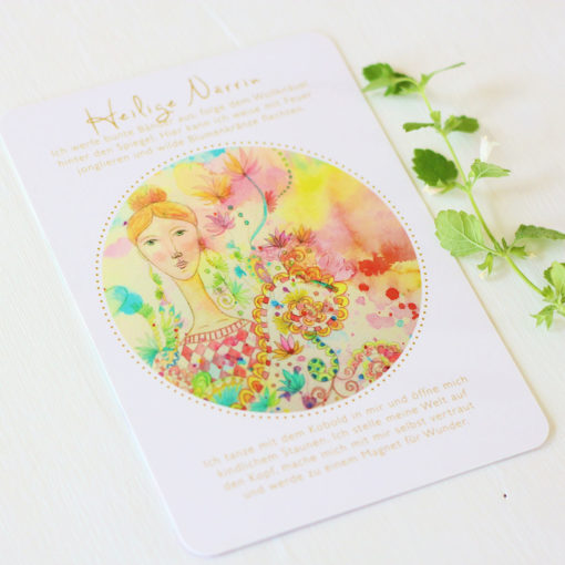 Orakelkarte Heilige Närrin aus dem Orakelkarten-Set Seelenmagie