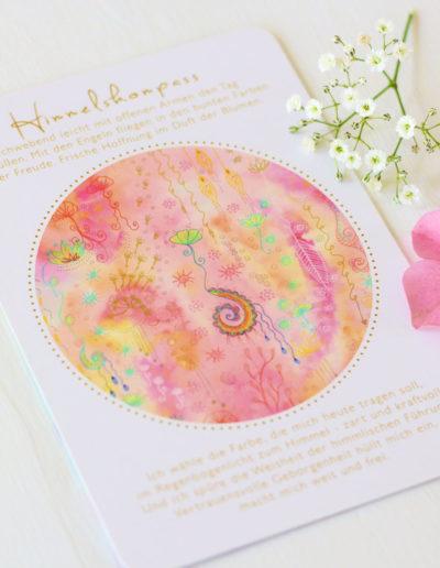 Orakelkarte Himmelskompass aus dem Orakelkarten-Set Seelenmagie